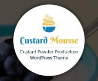 CustardMousse - Custard Powder Production WordPress Theme