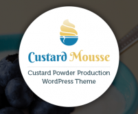 CustardMousse - Custard Powder Production WordPress Theme