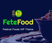 Fetefood - Festival Foods WordPress Theme