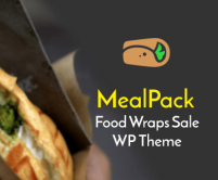 Meal Pack - Food Wraps Sale WordPress Theme & Template