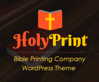Holy Print - Bible Printing Company WordPress Theme & Template