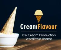CreamFlavor - Ice Cream Production WordPress Theme