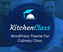 KitchenClass - Culinary Video Class Turorials WordPress Theme