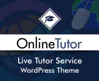 OnlineTutor - Live Tutor Service WordPress Theme