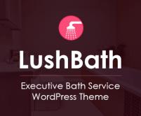 Lush Bath - Executive Bath Service WordPress Theme & Template