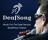 Deaf Song - Music For The Deaf Service WordPress Theme & Template