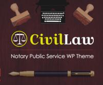CivilLaw - Notary Public Services WordPress Theme