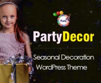 PartyDecor - Seasonal & Holiday Party Decorator WordPress Theme