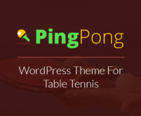 PingPong - Table Tennis WordPress Theme
