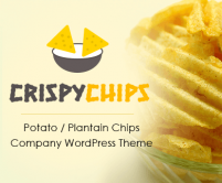 CrispyChips - Potato / Plantain Chips Manufacturer Company WordPress Theme