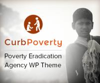 Curb Poverty - Poverty Eradication Agency WordPress Theme & Template
