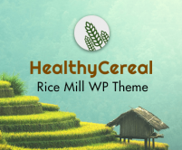 Healthy Cereal - Rice Mill WordPress Theme & Template