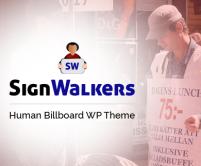 SignWalkers - Human Billboard Ad WordPress Theme