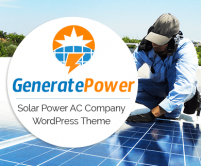 Generate Power - Solar Power AC Company WordPress Theme & Template
