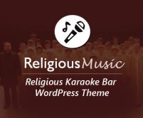 ReligiousMusic - Religious Karaoke Bar WordPress Theme