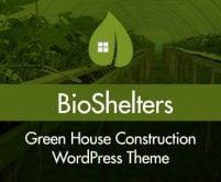 Bio Shelters - GreenHouse Construction WordPress Theme & Template