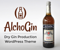 Alcho Gin - Dry Gin Production WordPress Theme & Template