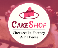 CakeShop - Cheesecake Factory WordPress Theme