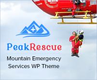 Peak Rescue - Mountain Emergency Services WordPress Theme & Template