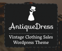 AntiqueDress - Vintage Clothing Sales WordPress Theme
