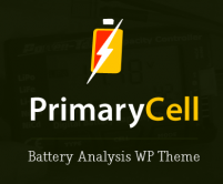 Primary Cell - Battery Analysis WordPress Theme & Template