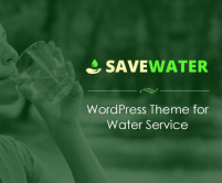 Save Water - Water Service WordPress Theme
