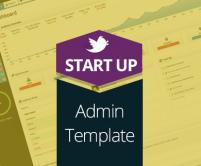 Start Up Admin -  A Web Template Admin Panel