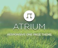 Atrium - Bootstrap One Page WordPress Theme