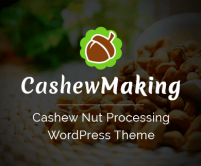 CashewShop - Cashew Nut Processing WordPress Theme