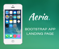 Aeria - App Landing Page Template built on Bootstrap