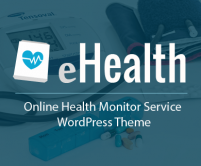 eHealth - Online Health Monitor Service WordPress Theme And Template