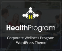 HealthProgram - Corporate Wellness Program WordPress Theme